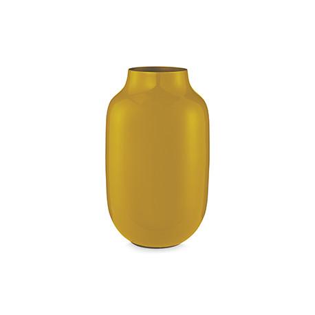 PIP váza metal oválná žlutá 30cm