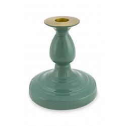 PIP svícen metal zelený výška 14cm