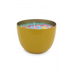 PIP miska se svíčkou žlutá dia 11cm