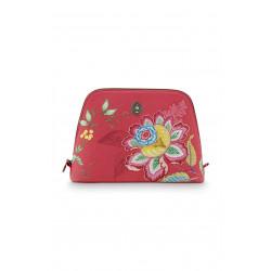 Taštička na kosmetiku (Triangle large jambo flower červená), Pip Studio