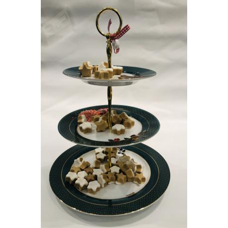 PIP dezertní talíř 3/vrstvý Zima W*land zelená 17-21-26,5cm