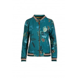 Pip Studio Nicos bomber na zip Leafy Stitch Big Blue