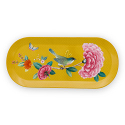 PIP Blush ptáci tác (podnos) obdélník žlutý 33,3x15,5cm