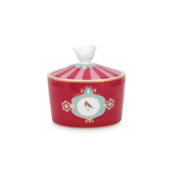 PIP sugar bowl Love Birds red-pink 300ml