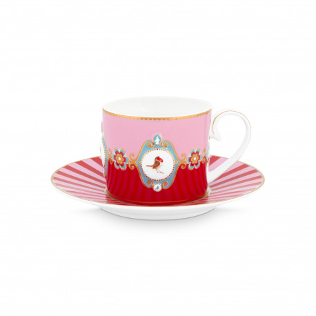 PIP šálek &** Love Birds red-pink 200ml