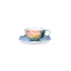 PIP Royal šálek s talířkem vzor květiny 225ml