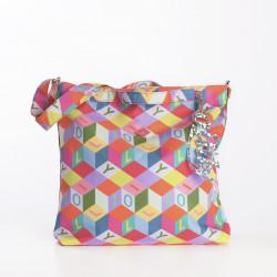 Taška plochá přes rameno – střední (M FLAT SHOULDER BAG) Oilily, kolekce Color Block
