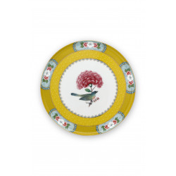 Mini podnos na dorty – Blushing Birds Yellow (průměr 21 cm – 6/24)