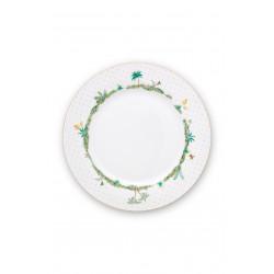 Pip Studio Jolie dots gold, talíř ∅26,5cm, bílý