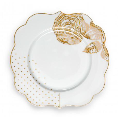 Pip Studio Royal White dezertní talířek, 17cm