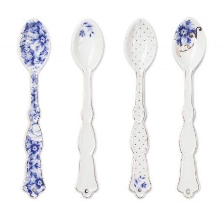 Pip Studio Royal White set 4 porcelánových lžiček, dárkové balení