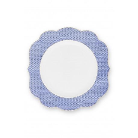 Pip Studio Royal Yerseke talíř ø 28 cm, modro-bílý