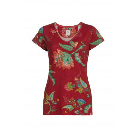 Pip Studio Toy tričko Jambo Flower Red s krátkým rukávem