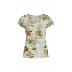 Pip Studio Tilly tričko Floris off-white s krátkým rukávem