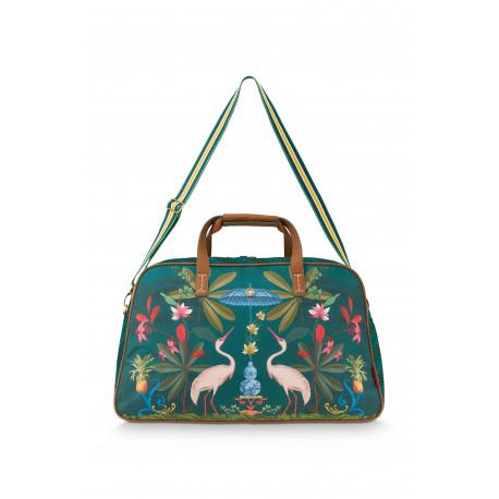 Pip Studio cestovní střední taška Heron, 57x22x37cm, zelená