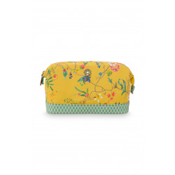 Pip Studio kosmetická taška Petites Fleur Yellow 22,5 x 9,5 x 15cm, nylon satin