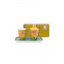 Pip Studio koupelnová sada petites fleurs, 3ks, žlutá