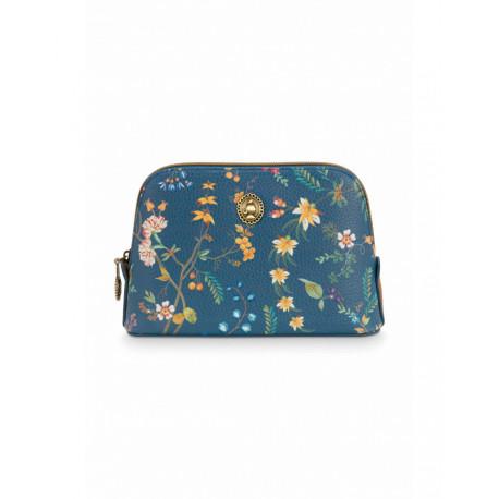 Pip studio kosmetická taška triangle S Petites Fleurs, tmavě modrá