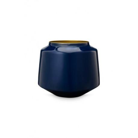 Pip váza metal, modrá,22cm